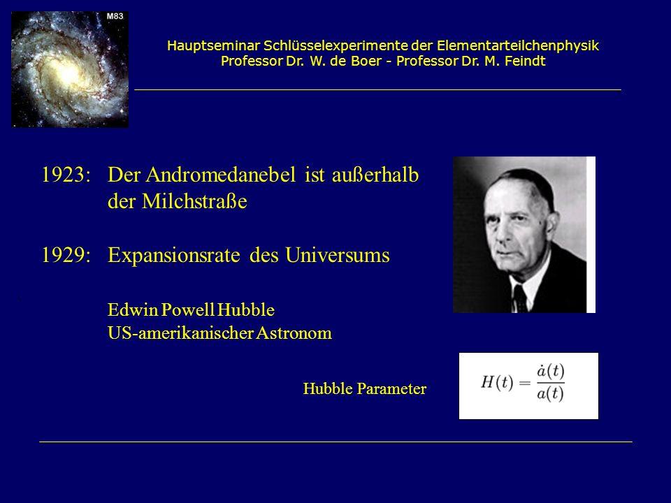 1923: Der Andromedanebel ist außerhalb der Milchstraße