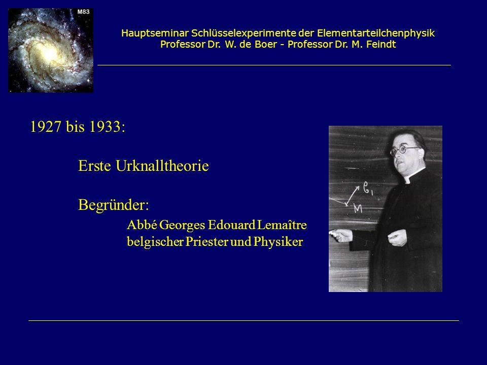 Abbé Georges Edouard Lemaître