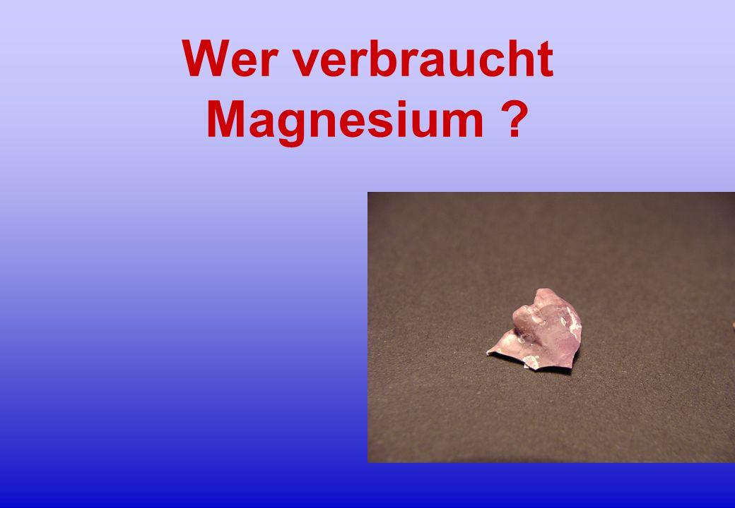 Wer verbraucht Magnesium