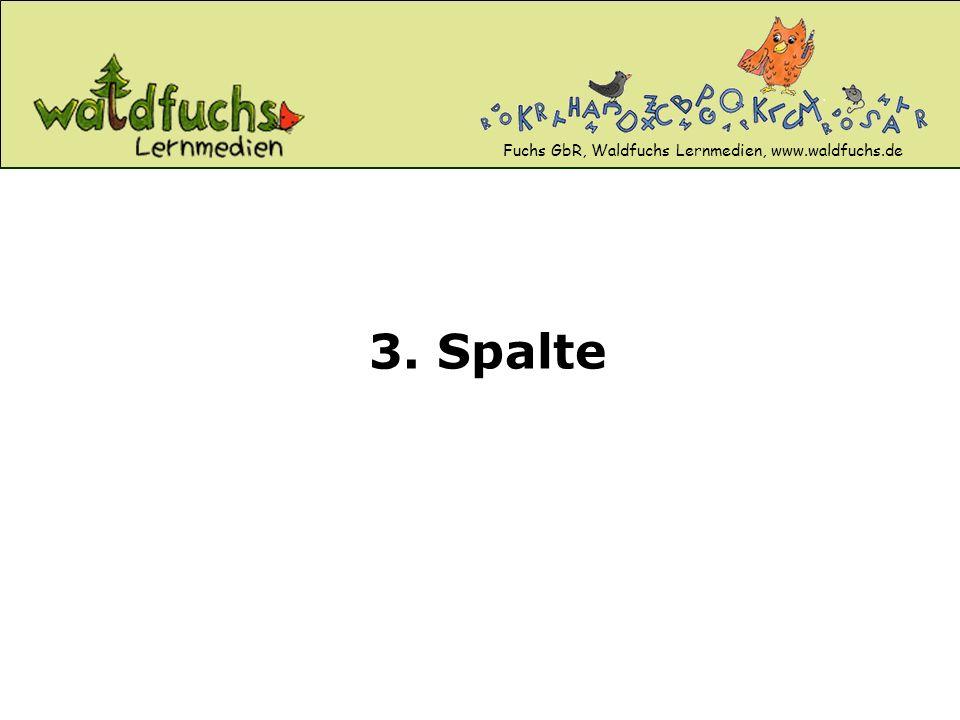 Fuchs GbR, Waldfuchs Lernmedien, www.waldfuchs.de