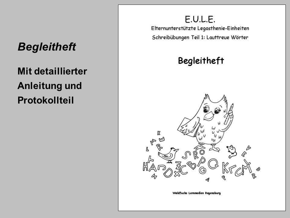 Begleitheft Mit detaillierter Anleitung und Protokollteil