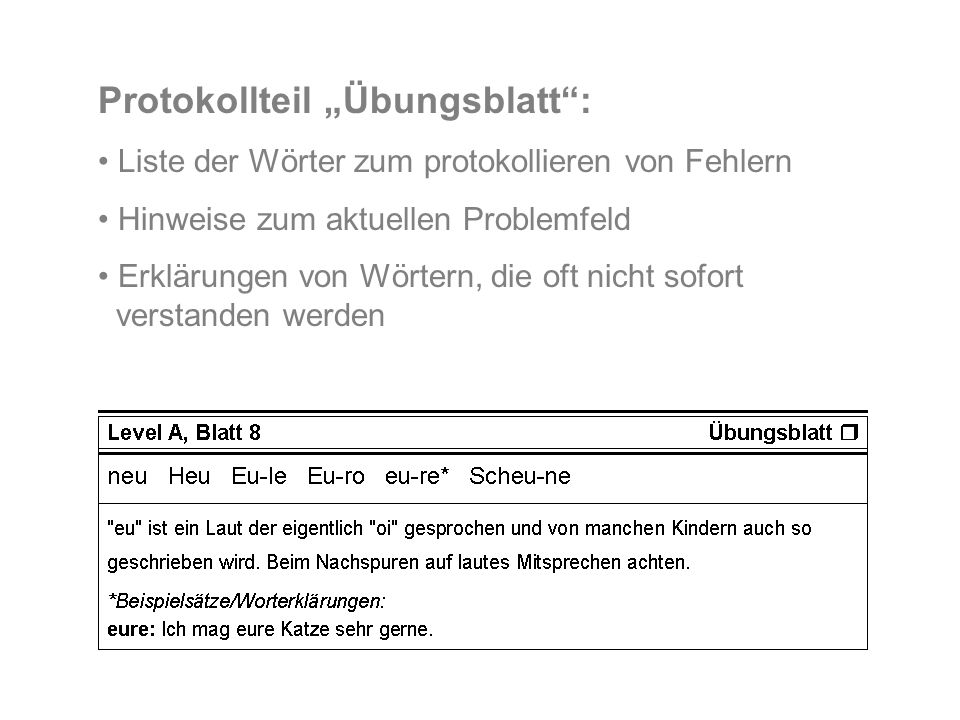 "Protokollteil ""Übungsblatt :"