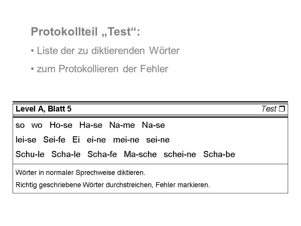 "Protokollteil ""Test :"