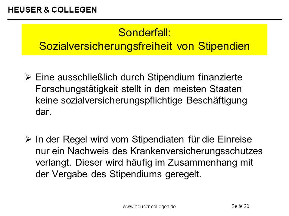 Sonderfall: Sozialversicherungsfreiheit von Stipendien