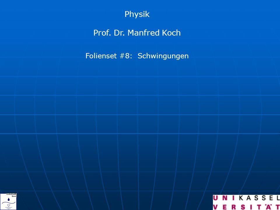Physik Prof. Dr. Manfred Koch Folienset #8: Schwingungen