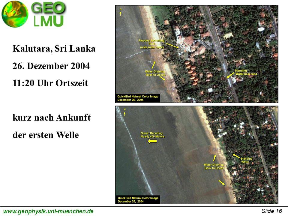 Kalutara, Sri Lanka 26. Dezember 2004 11:20 Uhr Ortszeit kurz nach Ankunft der ersten Welle