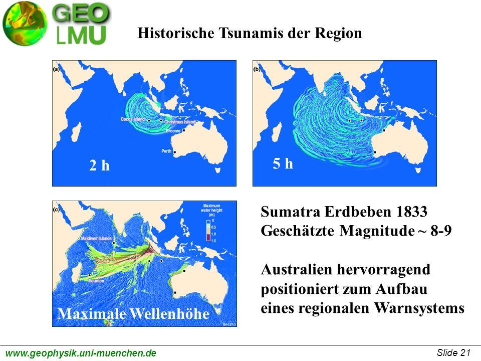 Historische Tsunamis der Region