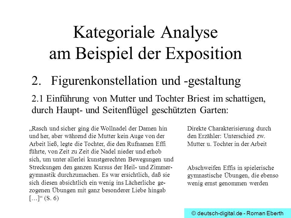 Kategoriale Analyse am Beispiel der Exposition