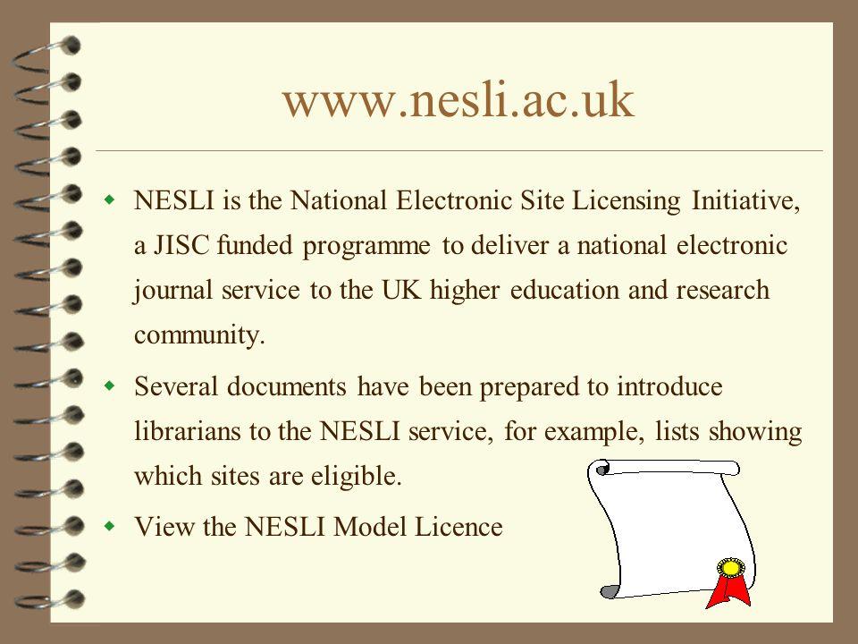 www.nesli.ac.uk
