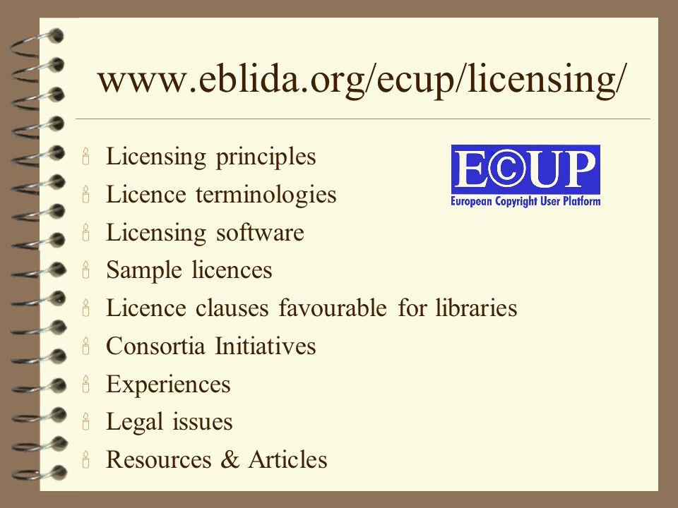 www.eblida.org/ecup/licensing/ Licensing principles