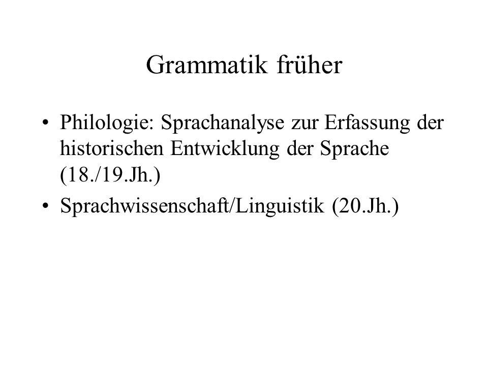 Grammatik früher Philologie: Sprachanalyse zur Erfassung der historischen Entwicklung der Sprache (18./19.Jh.)
