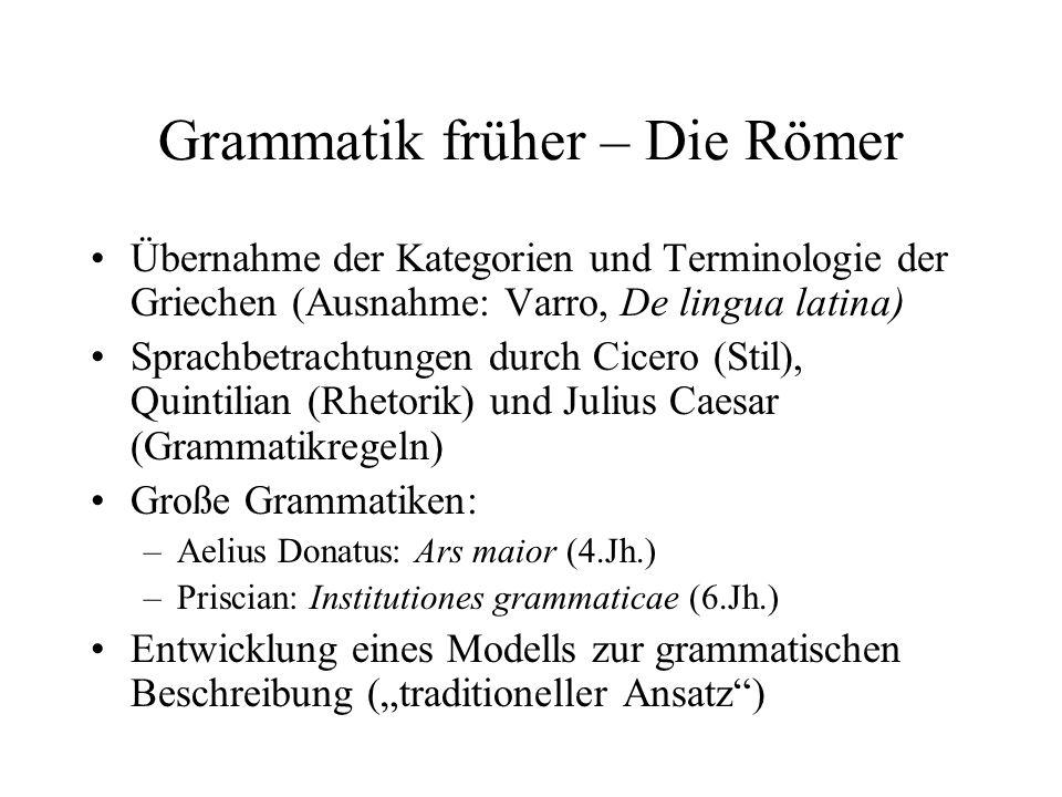 Grammatik früher – Die Römer