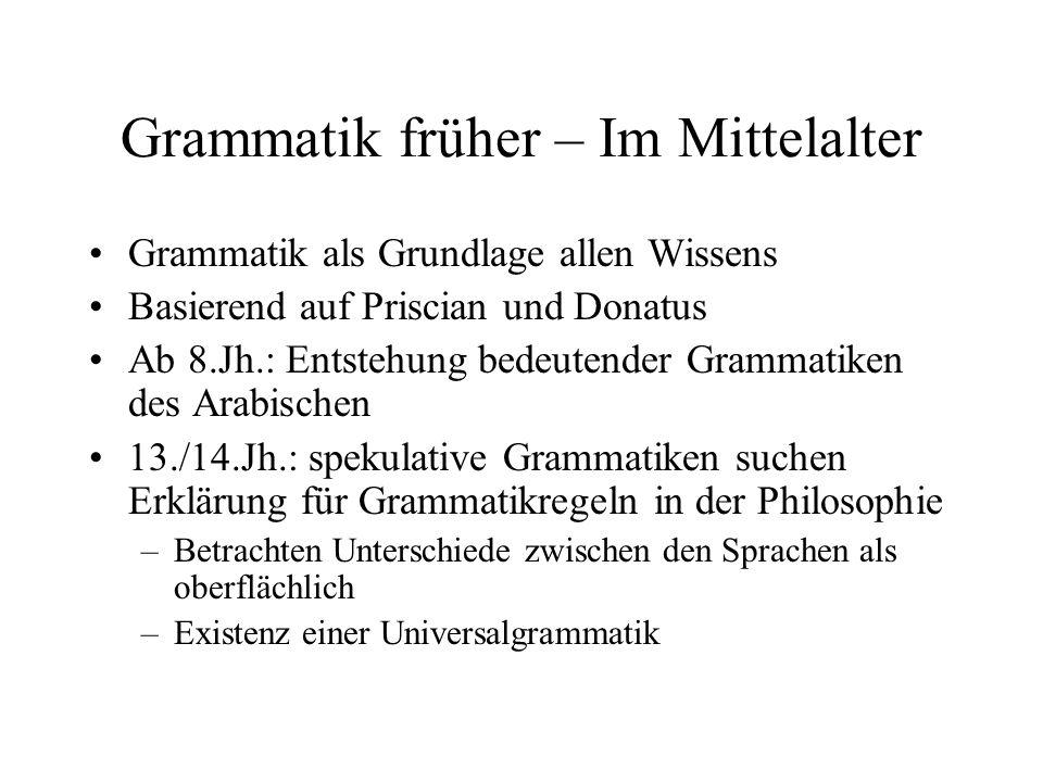 Grammatik früher – Im Mittelalter