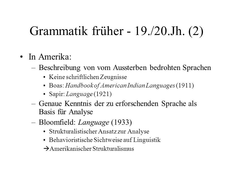 Grammatik früher - 19./20.Jh. (2)