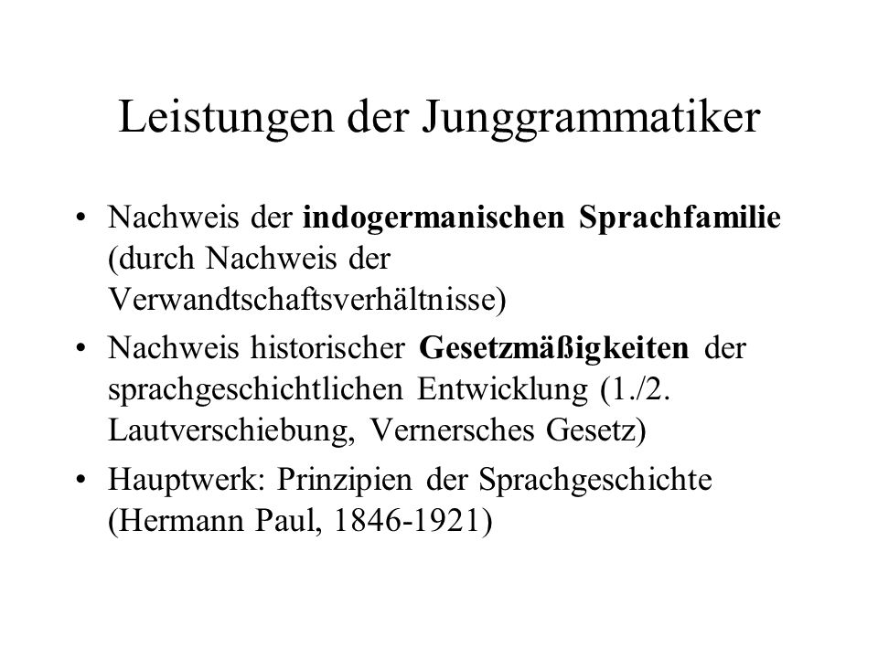 Leistungen der Junggrammatiker
