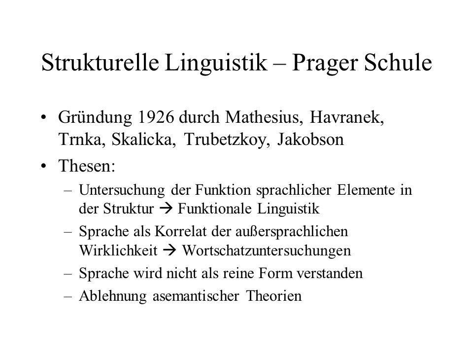 Strukturelle Linguistik – Prager Schule