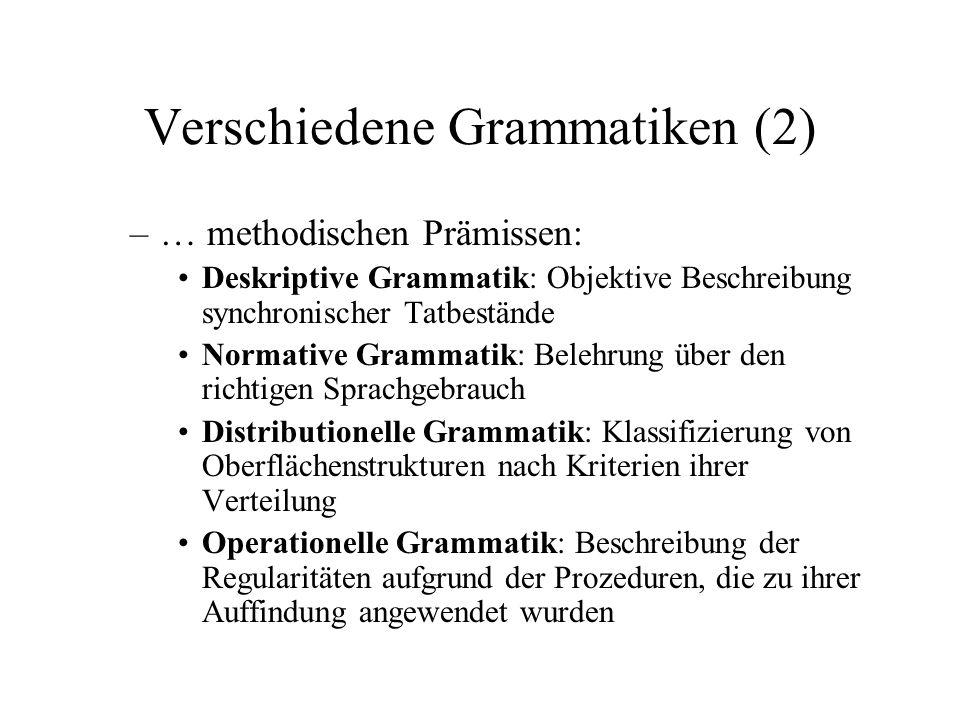 Verschiedene Grammatiken (2)