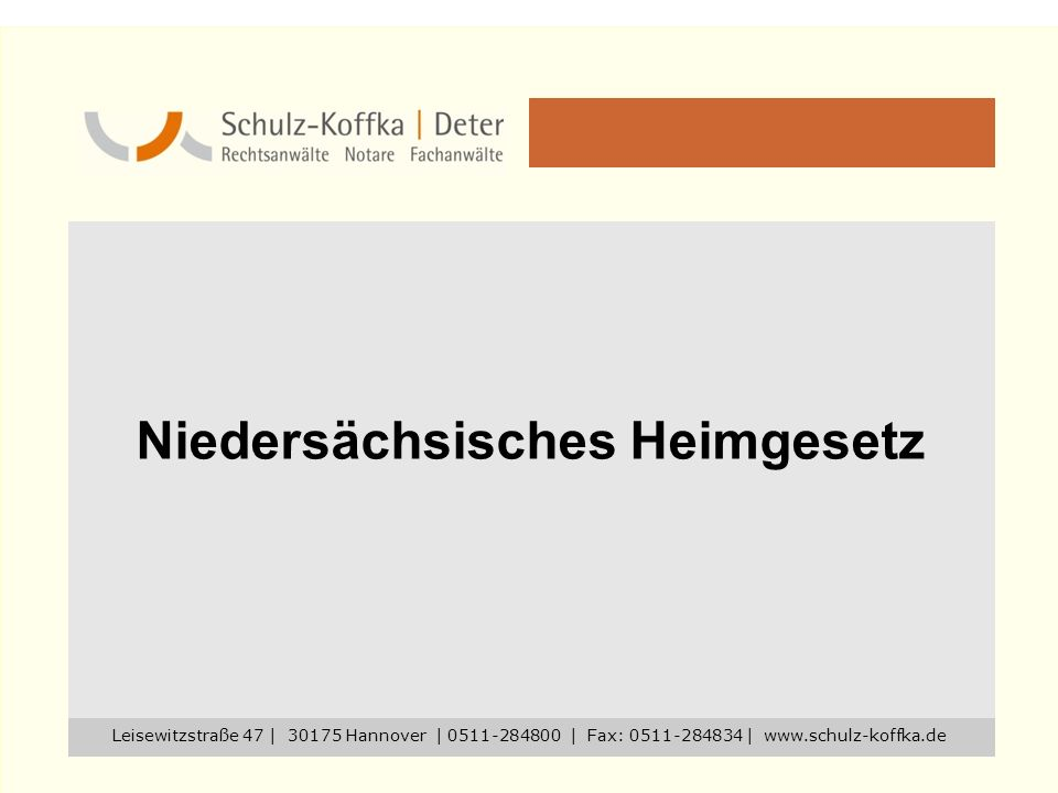 Niedersächsisches Heimgesetz