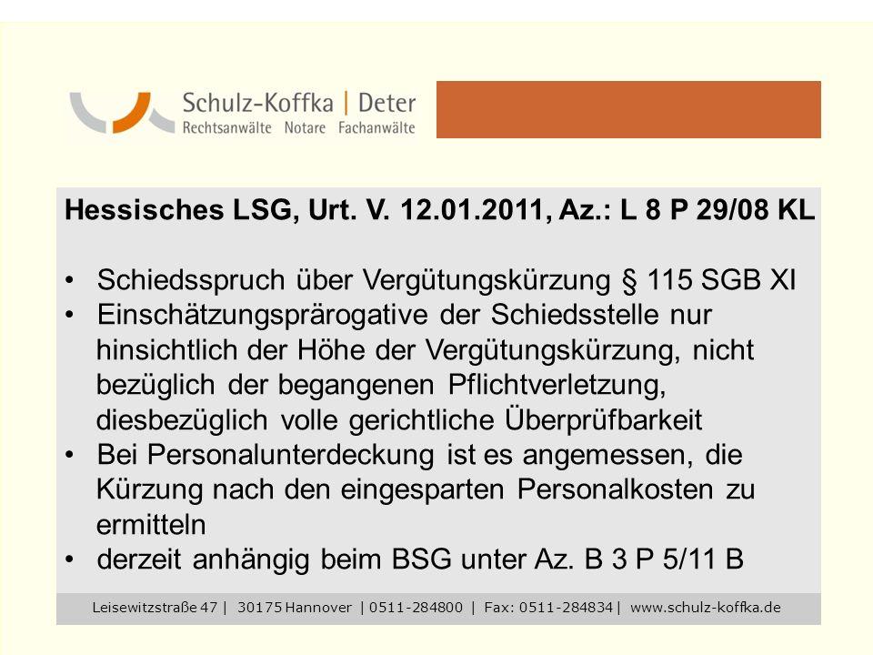 Hessisches LSG, Urt. V. 12.01.2011, Az.: L 8 P 29/08 KL