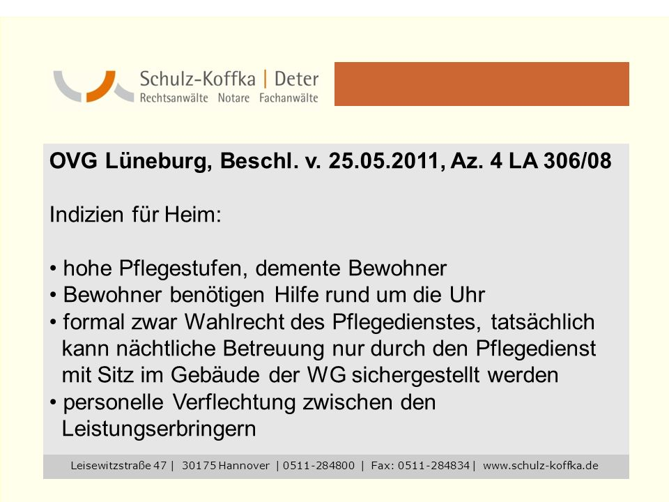OVG Lüneburg, Beschl. v. 25.05.2011, Az. 4 LA 306/08