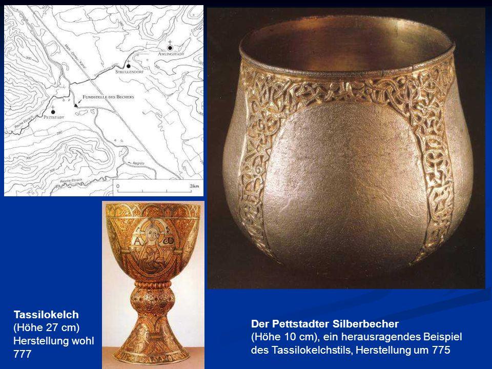 Tassilokelch(Höhe 27 cm) Herstellung wohl 777. Der Pettstadter Silberbecher.