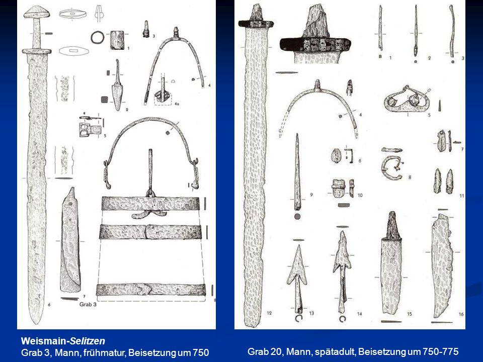 Weismain-SelitzenGrab 3, Mann, frühmatur, Beisetzung um 750.