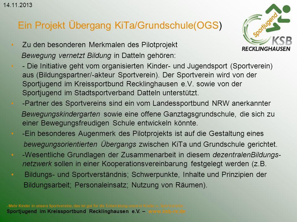 Ein Projekt Übergang KiTa/Grundschule(OGS)