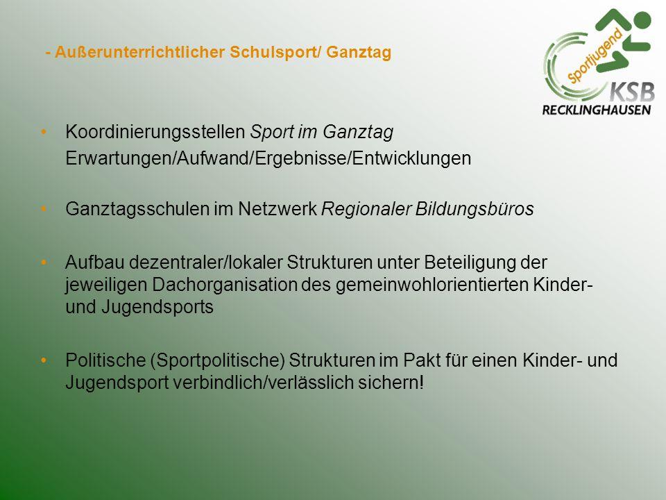 - Außerunterrichtlicher Schulsport/ Ganztag