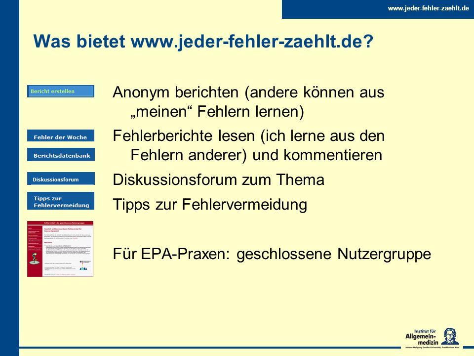 Was bietet www.jeder-fehler-zaehlt.de