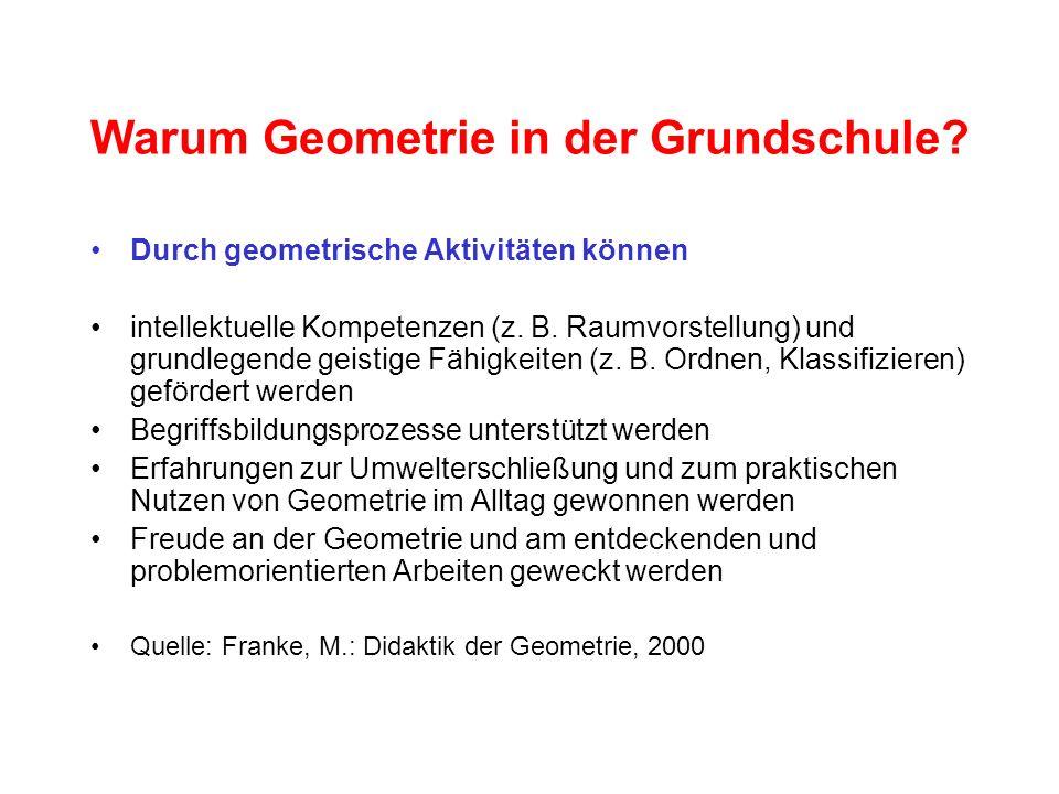 Warum Geometrie in der Grundschule