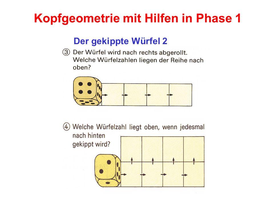 Kopfgeometrie mit Hilfen in Phase 1