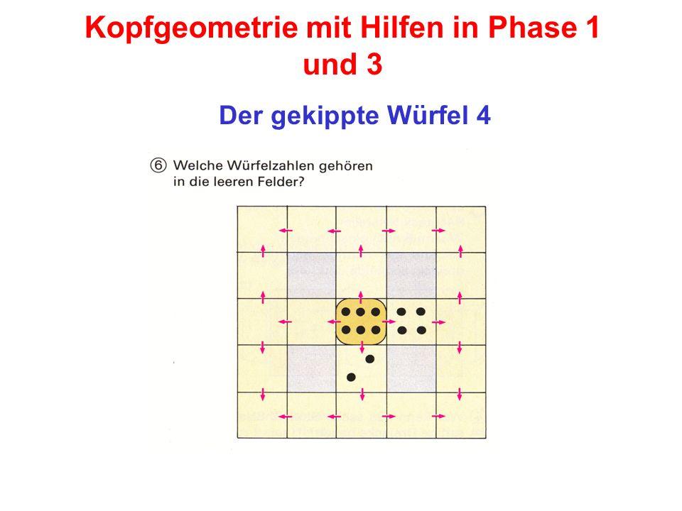 Kopfgeometrie mit Hilfen in Phase 1 und 3