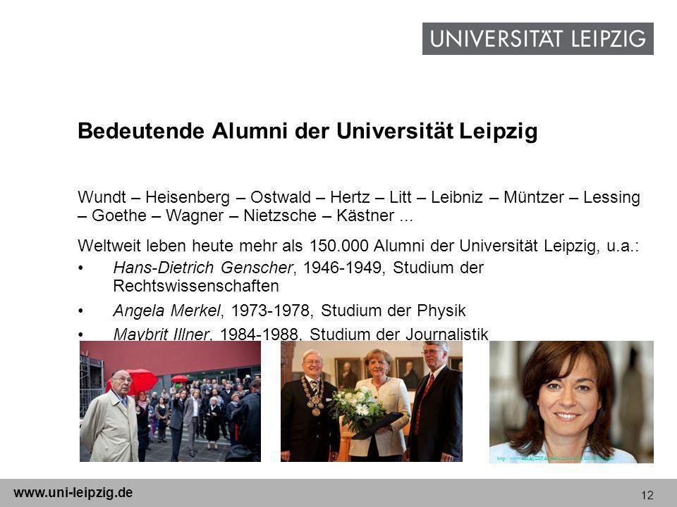 Bedeutende Alumni der Universität Leipzig