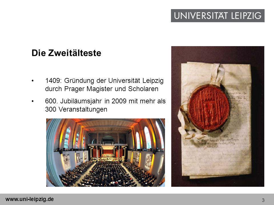 Die Zweitälteste 1409: Gründung der Universität Leipzig durch Prager Magister und Scholaren.
