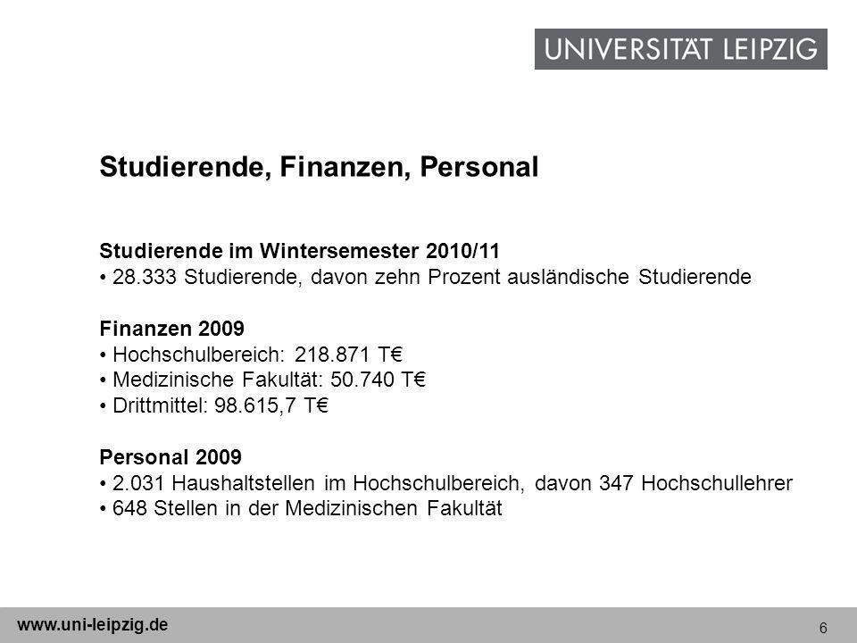 Studierende, Finanzen, Personal