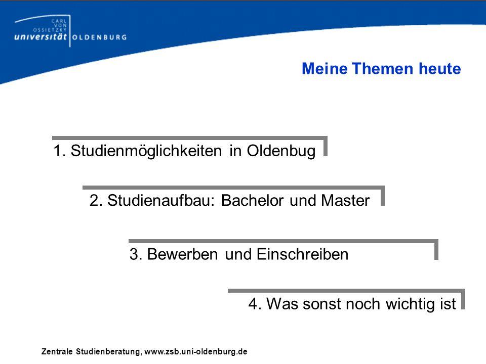 2. Studienaufbau: Bachelor und Master
