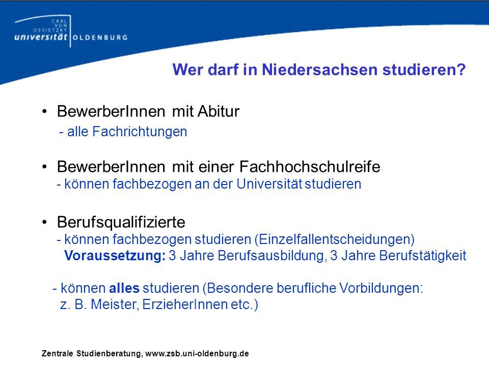 Wer darf in Niedersachsen studieren