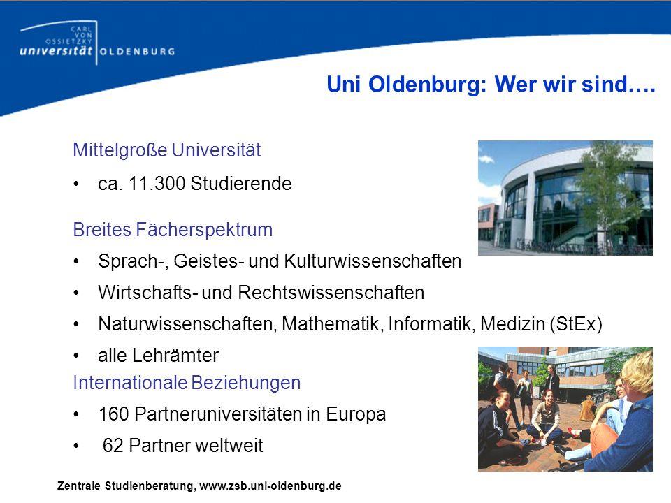 Uni Oldenburg: Wer wir sind….