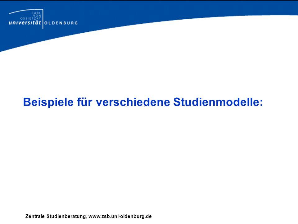 Beispiele für verschiedene Studienmodelle: