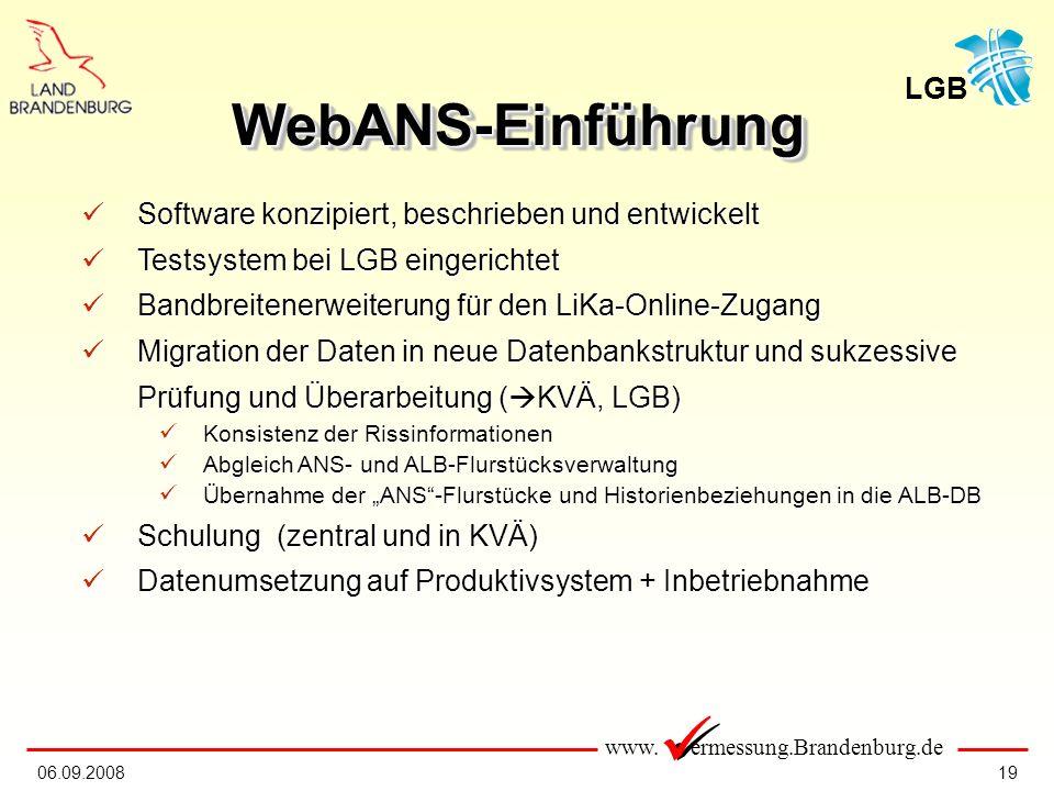 WebANS-Einführung Software konzipiert, beschrieben und entwickelt