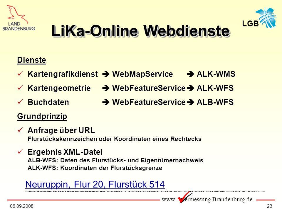 LiKa-Online Webdienste