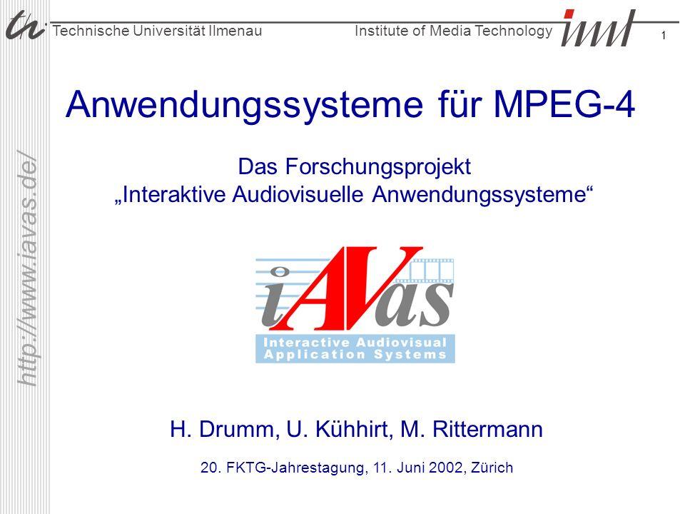 Anwendungssysteme für MPEG-4