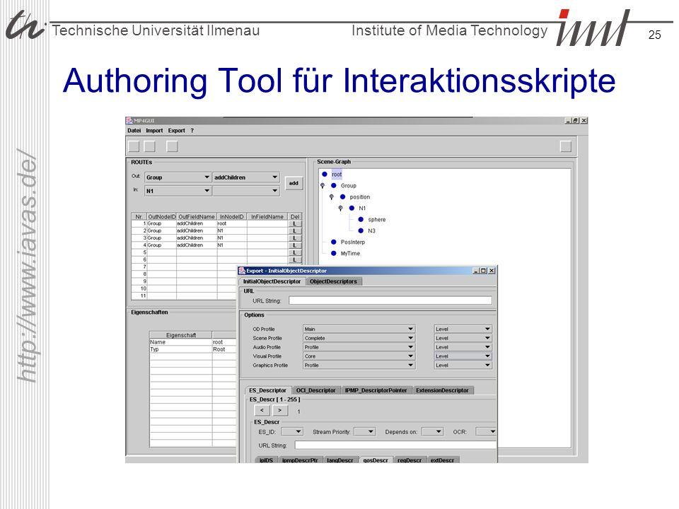 Authoring Tool für Interaktionsskripte