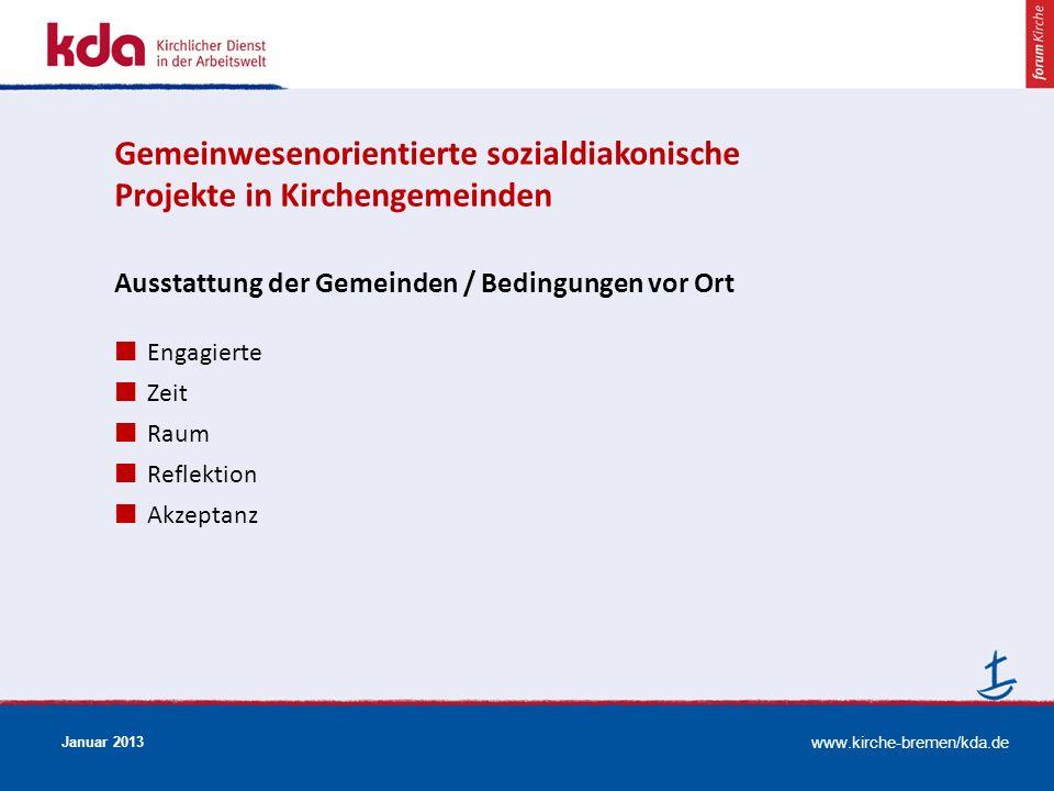 Gemeinwesenorientierte sozialdiakonische Projekte in Kirchengemeinden