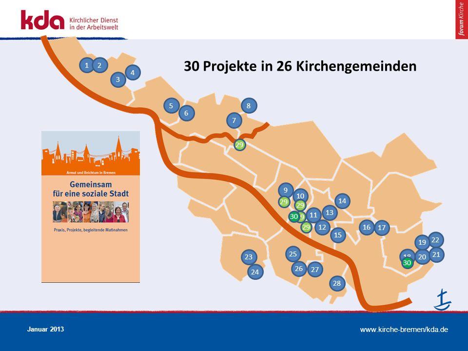 30 Projekte in 26 Kirchengemeinden