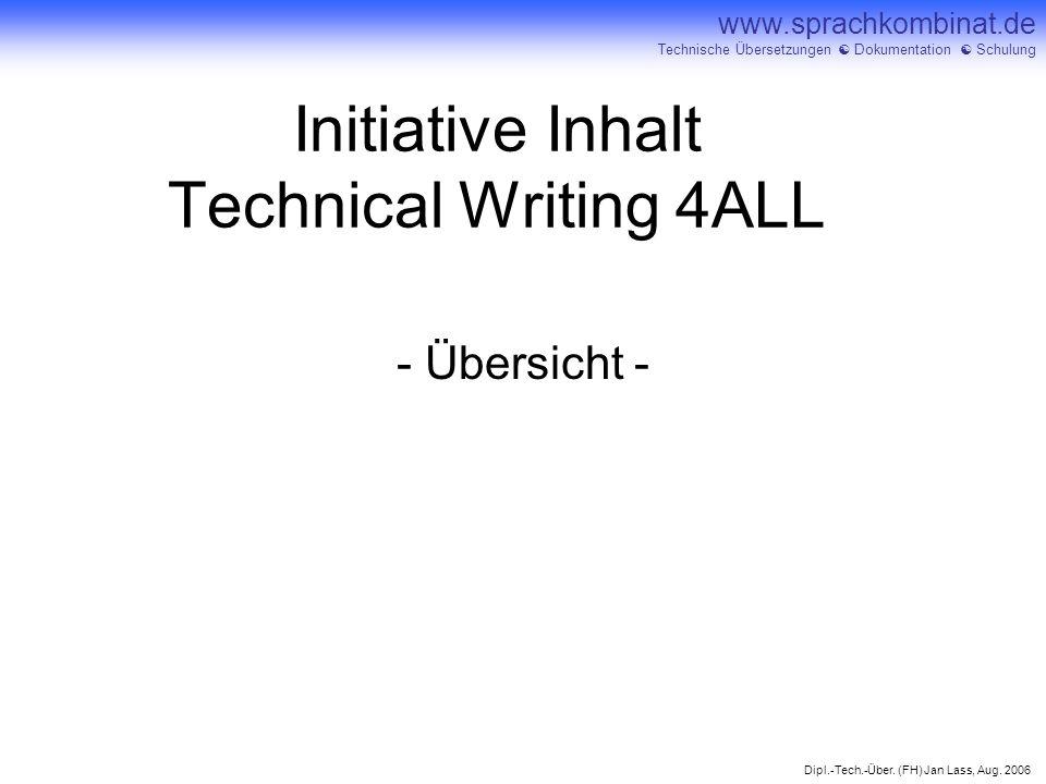 Initiative Inhalt Technical Writing 4ALL