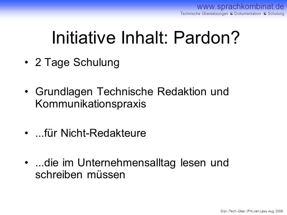 Initiative Inhalt: Pardon