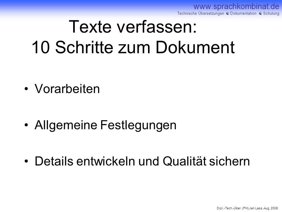 Texte verfassen: 10 Schritte zum Dokument