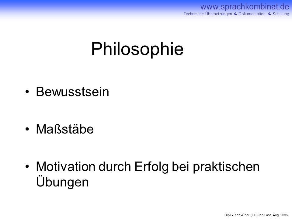 Philosophie Bewusstsein Maßstäbe