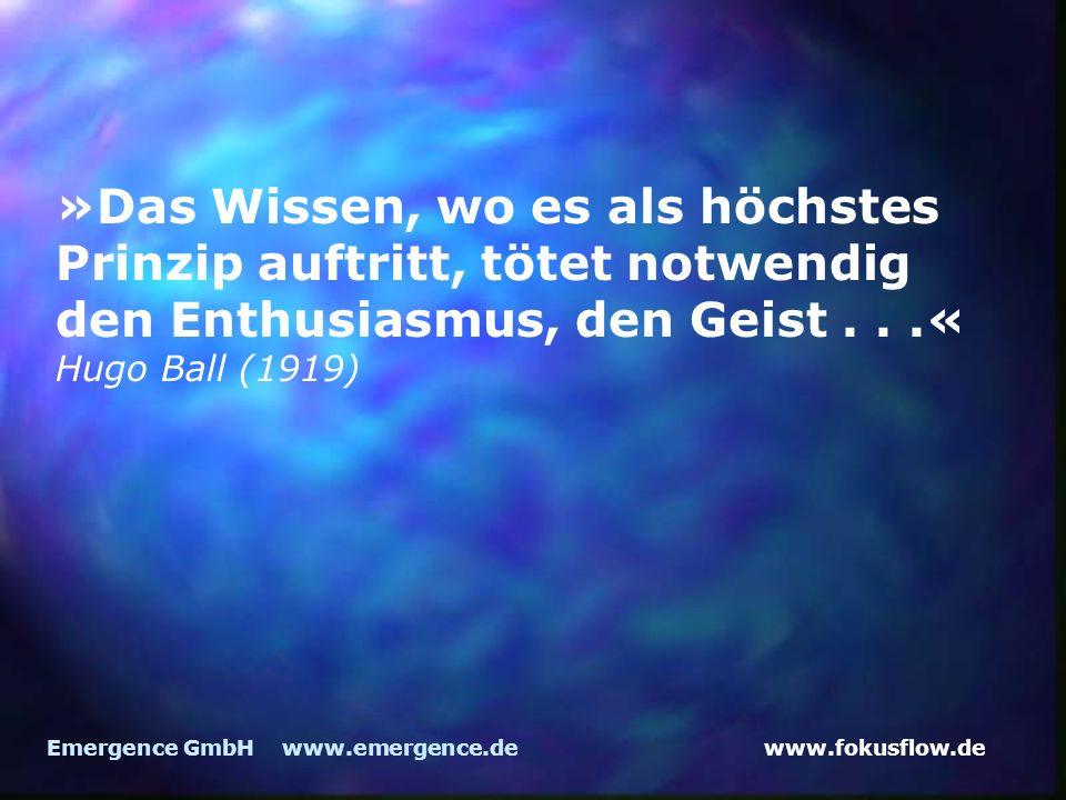 »Das Wissen, wo es als höchstes Prinzip auftritt, tötet notwendig den Enthusiasmus, den Geist . . .«